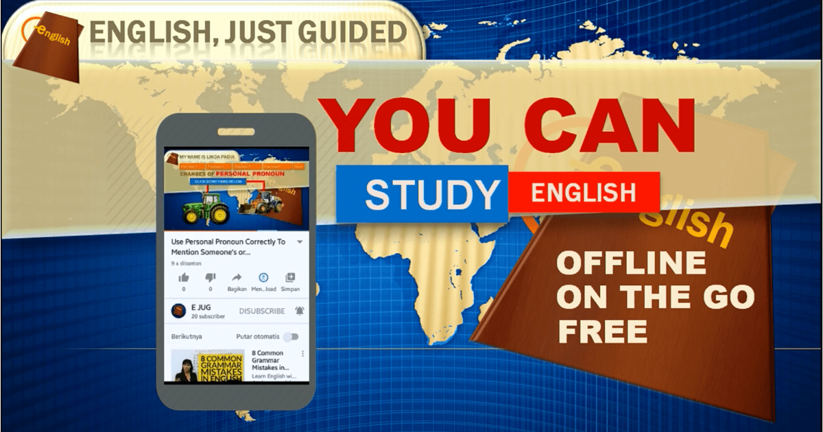 Learn English Offline is Possible with EJUG Youtube Videos